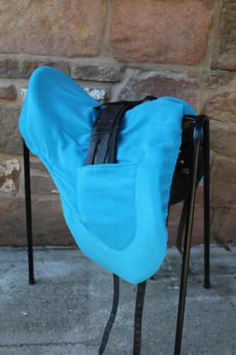 na black,yellow,blue,purple,black Dressage saddle cover with girth pockets red
