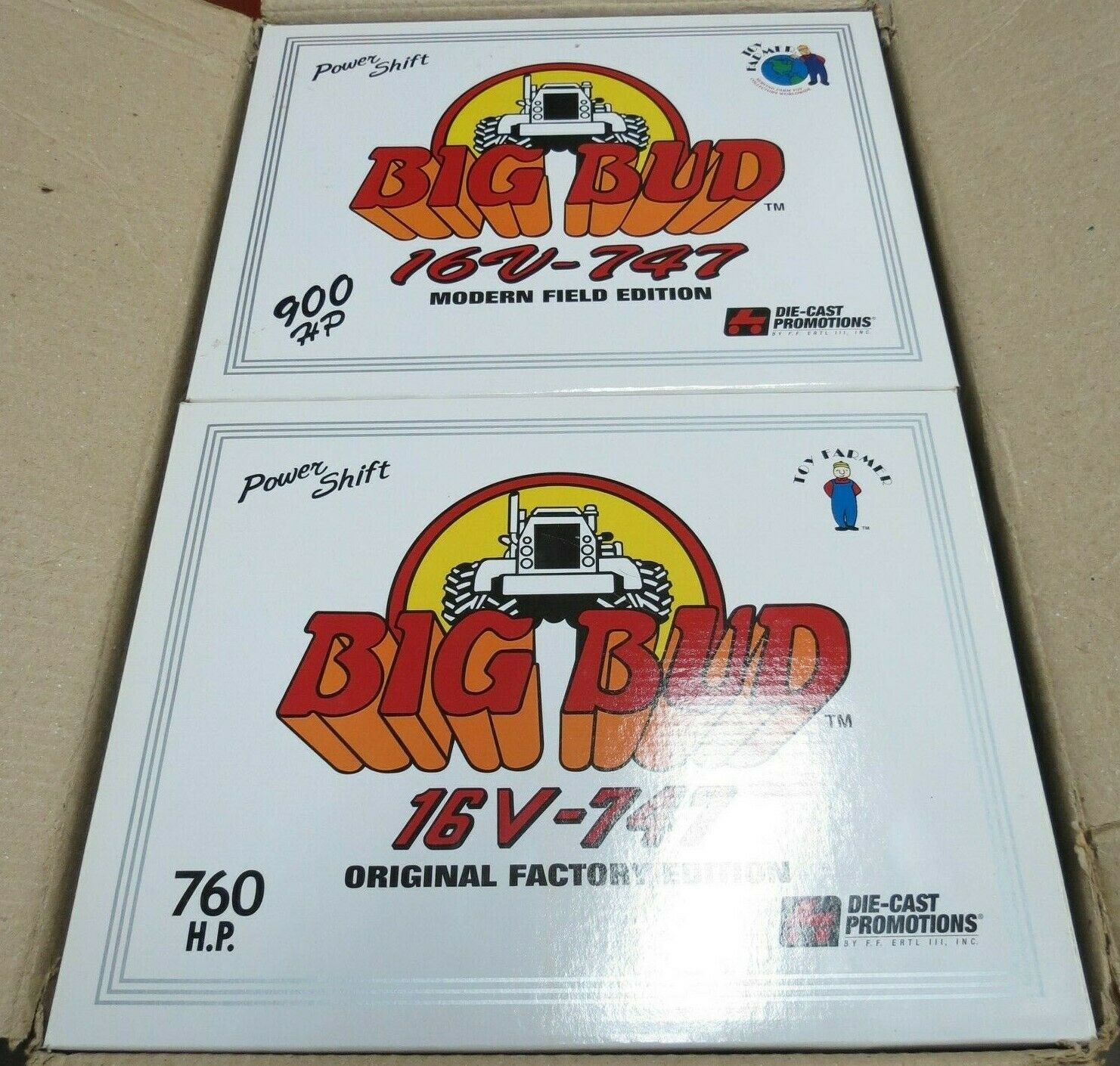 1 32 Big Bud 747 Tractor Pair Modern & Original Edition NIOB
