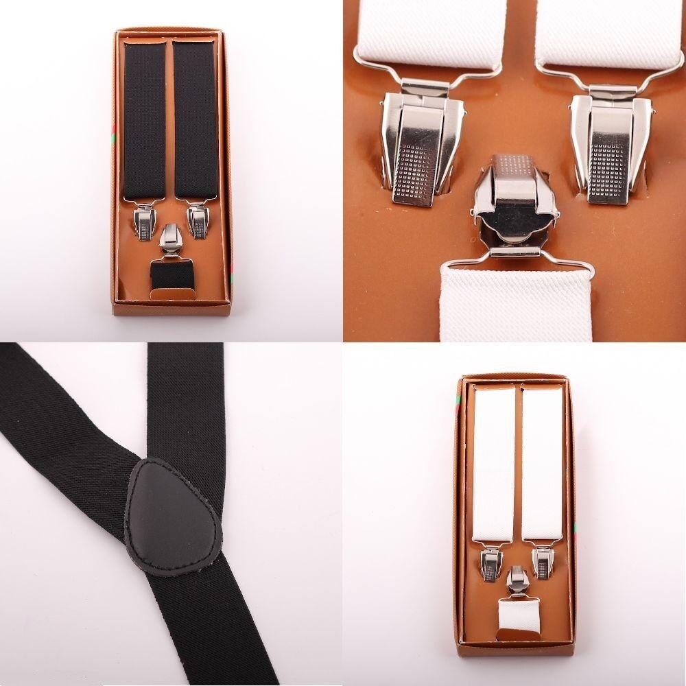 1 x Hosenträger 3 Clips Y-Form breit elastisch verstellbar Unisex Herren Damen