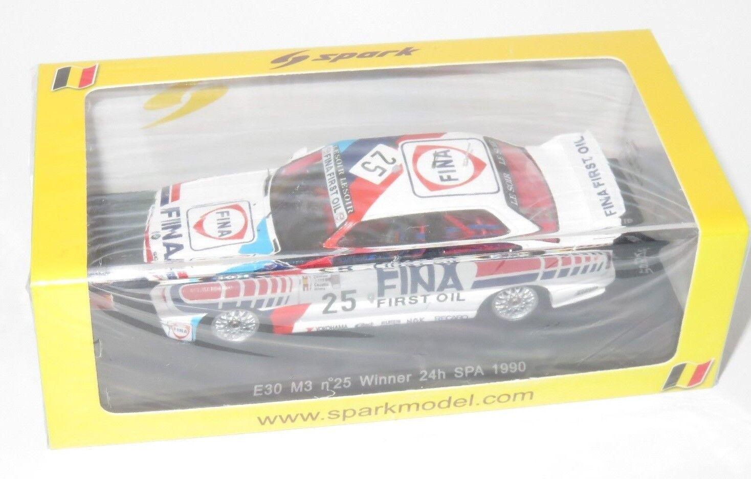 1/43 BMW M3 E30 FINA vincitore 24 ore SPA 1990 CECOTTO/giroix/Oestreich