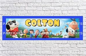 Personalized Customized Snoopy Peanuts Name Banner Wall Decor Poster with Frame