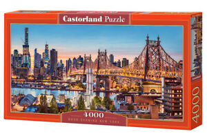 "Castorland Puzzle 4000 Pieces GOOD EVENING NEW YORK 54""x27"" Sealed box C-400256"