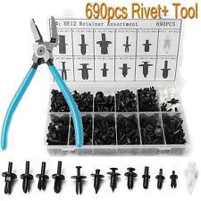 690Pcs Car Automotive Push Pin Rivet Trim Clips Panel Retainer + Puller Tool