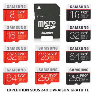 Carte-Memoire-Samsung-Micro-SD-16Go-32Go-64Go-128Go-256Go-8Go-EVO-Pro-Plus