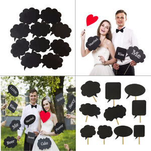 10pcs-Speech-Chalk-Board-Photo-Booth-Props-Photography-Wedding-Christmas-Party