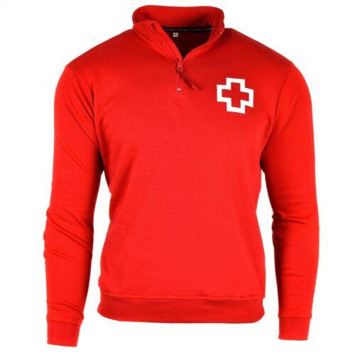 Originale CROIX-ROUGE espagnole Volunteer pull rouge pull-over Pull Fermeture Éclair Col Neuf