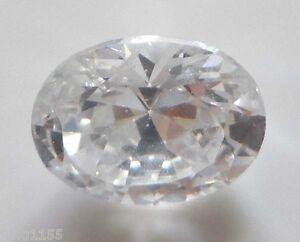 2-89CT-AAA-Natural-White-Zircon-Diamonds-Oval-Cut-9x7mm-VVS-Loose-Gemstone
