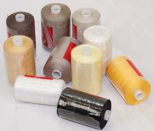 Spun polyester sewing thread overlock heavy duty cottons 10 reels 10 shades No:3