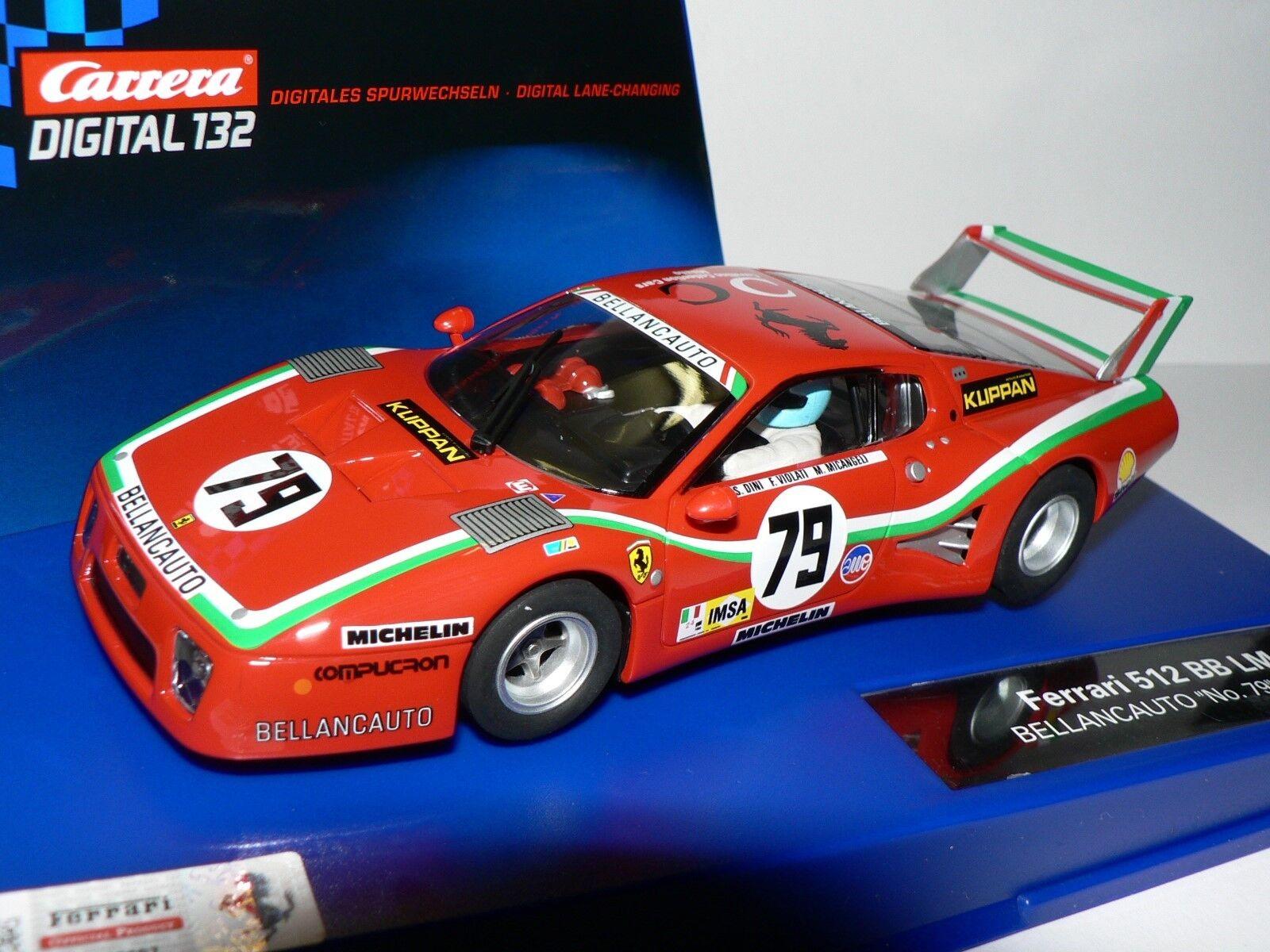 Carrera Digital132 30577 Ferrari Ferrari Ferrari 512 BB LM Bellancauto No. 79 1980   NEU 1c41bd