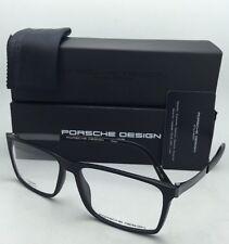 New PORSCHE DESIGN Eyeglasses P'8260 E 56-15 Matte Black & Black Chrome Frames