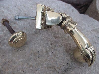 Genial Vintage Solid Brass Complete Ball In Hand Door Knocker Beautiful Hardware
