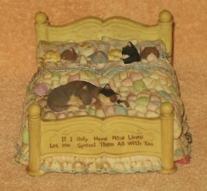 RARE VINTAGE IF I ONLY HAVE 9 LIVES LET ME SPEND THEM ALL WITH YOU CAT MUSIC BOX