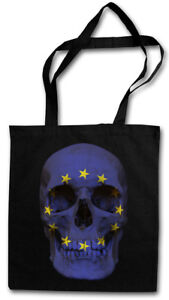 CLASSIC EUROPE SKULL FLAG STOFFTASCHE Flagge Schädel Banner Fahne Europa