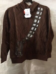 Disney-Star-Wars-Chewbacca-Boys-Hoodie-Mask-Jacket-Zipper-Costume-Size-XS-NWT