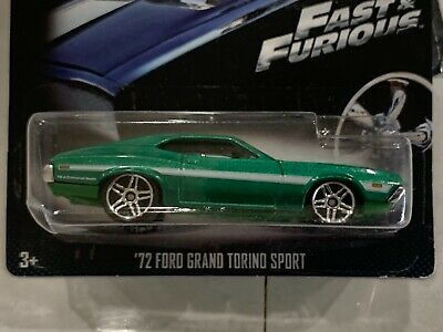 HOT WHEELS 2019 FAST AND FURIOUS /'72 FORD GRAN TORINO SPORT LOOSE GREEN Vhtf Wow