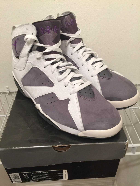 Nike Air Jordan 7 VII Retro White Flint Grey Size 13 304775-151 Xi boost 350 vi