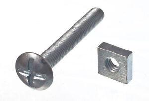 100-X-Dachschraube-Kreuzkopf-6Mm-M6-X-45Mm-IN-Der-Laenge-BZP-amp-Quadratische