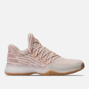 7e4863c1d4a Adidas Harden Vol. 1 Primeknit Basketball Shoes Chalk White Pink New ...