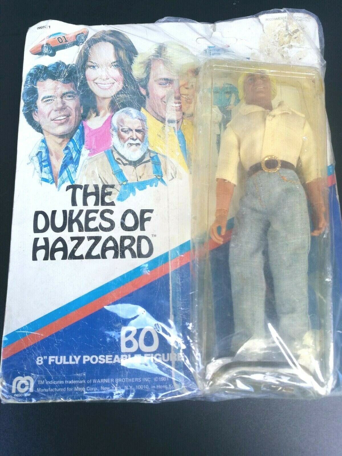 Figura MEGO CORP THE DUKES OF HAZZARD BO VINTAGE 1980 WARNER BROS 20 CM