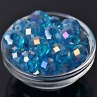 10pcs 18x13mm Rondelle Faceted Crystal Glass Loose Beads Lake Blue AB