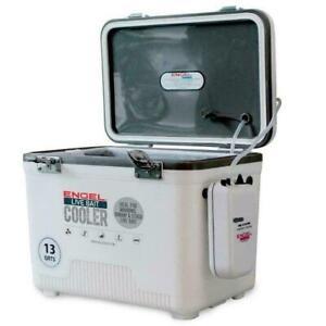 Portable-Livewell-Bait-Boat-Minnow-Aerator-Fishing-13Qt-Tank-Live-Well-Air-Pump