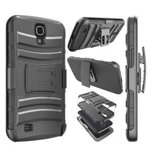For-Samsung-Galaxy-Mega-6-3-Hybrid-Rubber-Hard-Stand-Case-Cover-w-Holster-Black