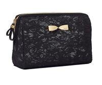 Victoria's Secret Black Lace Large Beauty Bag
