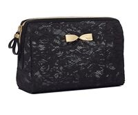 Victoria's Secret Black Lace Large Beauty Bag