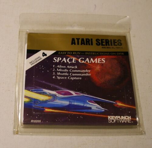 NEW RARE Space Games by Keypunch Software for the Atari 400//800