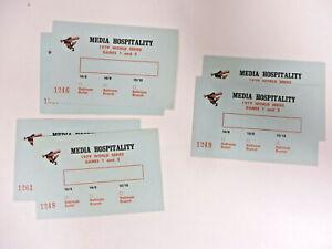 Baltimore-Orioles-1979-World-Series-6-Unused-Media-Hospitality-Passes-Tickets