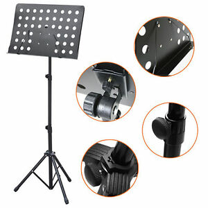 Heavy-Duty-chef-d-039-orchestre-Sheet-Music-Stand-Holder-Trepied-base-pliable