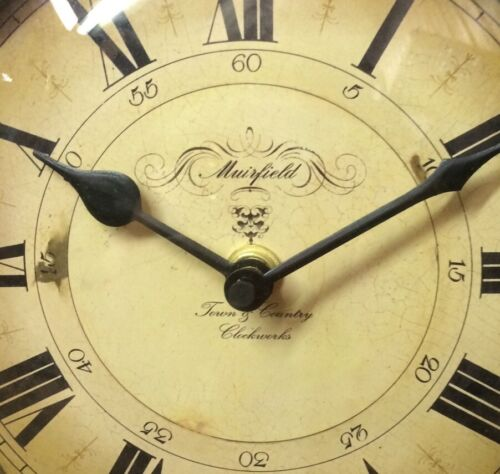 Vintage European Style Wall Clock Artistic Timepieces Battery Operated NIB 6B