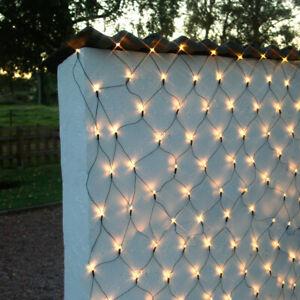 LED-Lichterkette-Netz-warmw-Kabel-schwarz-Innen-aussen-Versch-Groessen-IP44