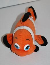 "Fiesta DOLLY Orange CLOWN FISH 9"" Plush Stuffed Animal Soft Toy Blue Eye C01921G"