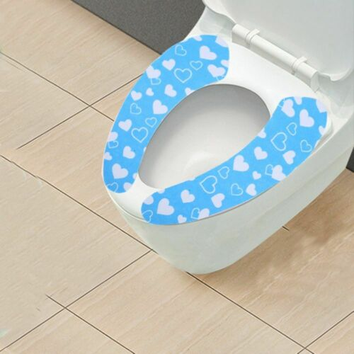 1pcs Home Toilet Seat Cover Washable Sticky Cover Mat Lid Paster Seat Pad Clean