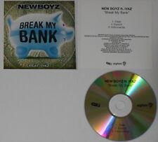 New Boyz f. Iyaz  Break My Bank x3  - U.S. promo cd  -Rare!