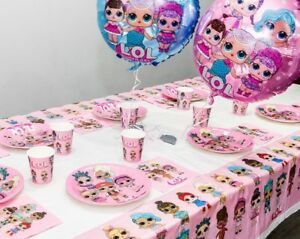 LOL-Surprise-Dolls-Birthday-Party-Supplies-Plates-Cups-Napkins-Tableware-Balloon