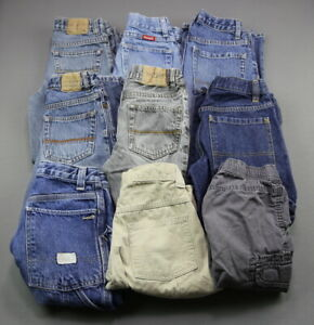 Boy-039-s-9-Pair-Lot-Jeans-and-Shorts-Old-Navy-Gap-Wrangler-Place-Size-8
