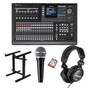 Tascam-DP-32SD-32-TRACK-Digital-Portastudio-Rockville-portatile-mixer-stand