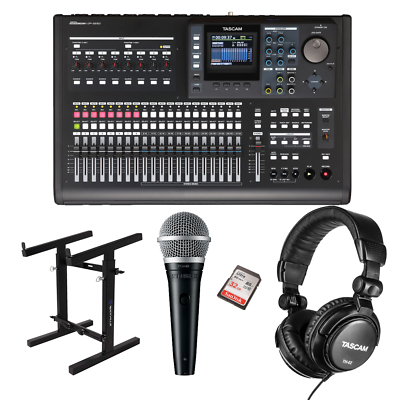 100% Quality Tascam Dp-32sd 32-track Digital Portastudio + Rockville Portable Mixer Stand ... Let Our Commodities Go To The World
