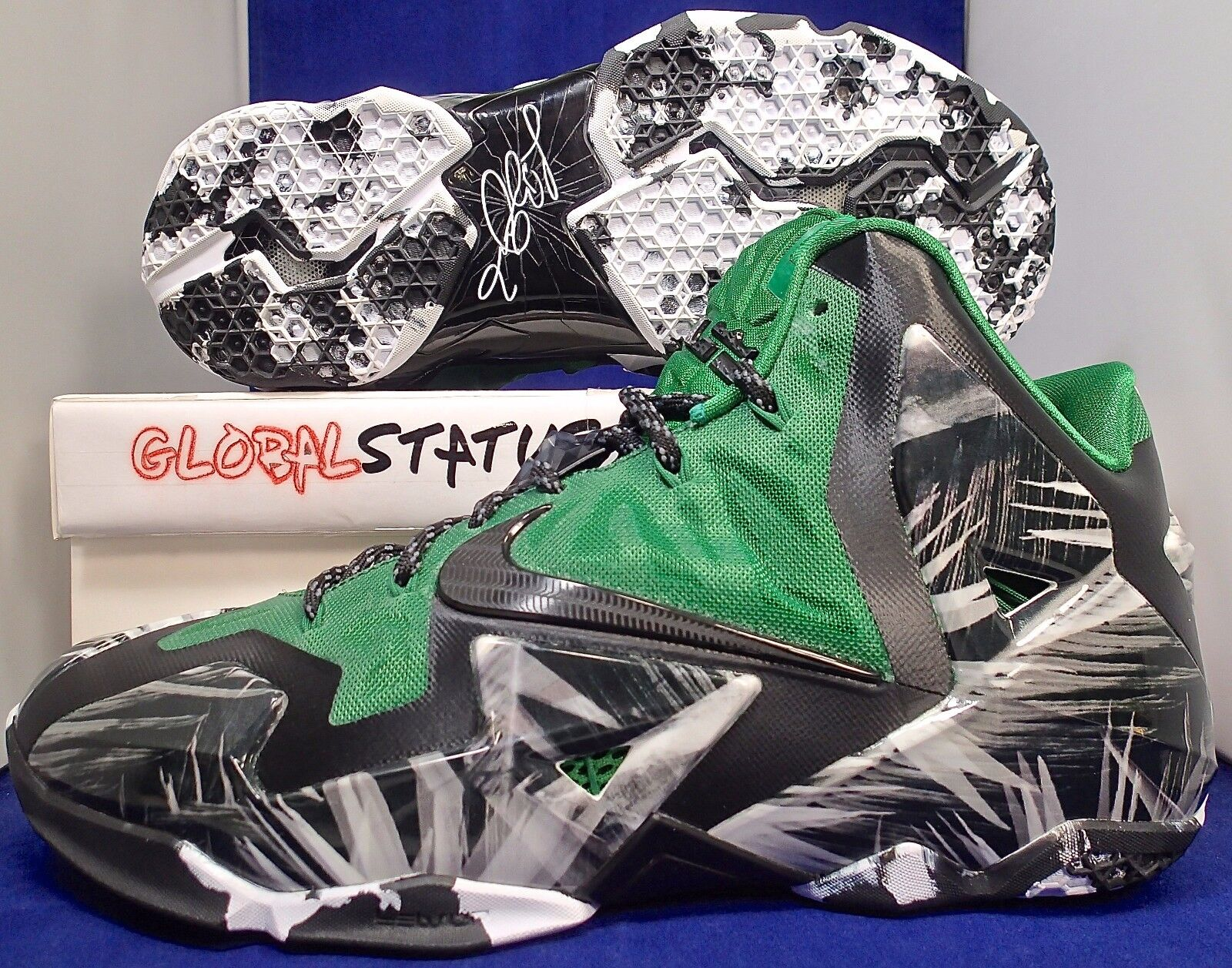 vnds nike id lebron grüne xi everglades schwarz - grüne lebron basketball - schuhe 641217 993 sz 10 54aae3