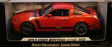 SHELBY COLLECTIBLES 1:18 SCALE DIECAST METAL RED 2013 FORD MUSTANG BOSS 302