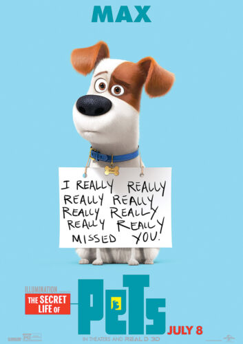Secret Life of Pets Poster MAX Kids Hit Movie 2016 FREE P+P CHOOSE YOUR SIZE