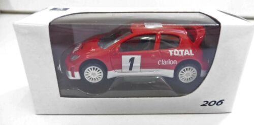 """PEUGEOT 206 Rallye Rouge 1//64 /""""3 Inche/"""" Norev Diecast Neuf Boite"""