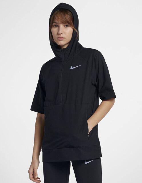nike lightweight women's short sleeve hoodie