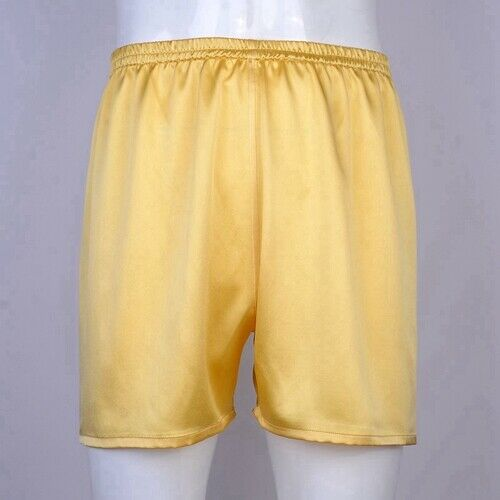 Mens 19 Momme 100/% Silk Lounge Boxers Underwear Jogging Shorts All Size Ailisilk