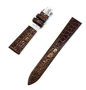 Cinturino orologio da uomo Morellato pelle stampa cocco marrone piatto 16 18 20