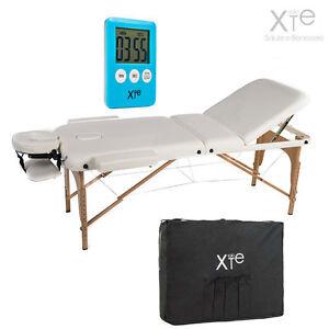 Lettino X Massaggio.Dettagli Su Lettino Da Massaggio Lettini Massaggi Estetica Xl 3 Zone Legno Portatile 12cm