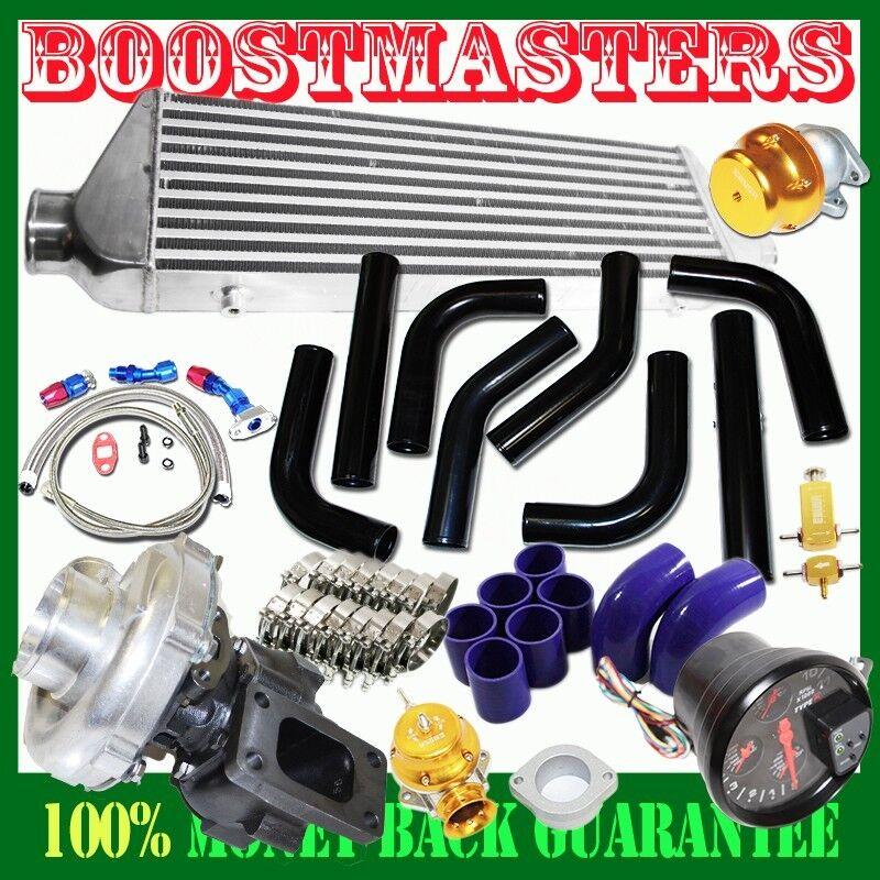 "Ford Universal Turbo Kit: For DIY Universal T3/T4 Turbo Kits 2.5"" Black Intercooler"