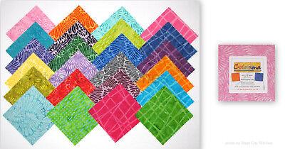 Bali Batik Colorama 5X5 Pack 42 5-inch Squares Charm Pack Benartex